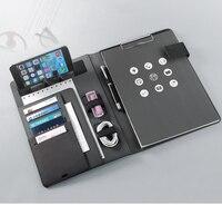 Biznes a4 menedżer folder folder na dokumenty konferencja podróż padfolio z elastycznym stojak na telefon komórkowy stojak na notebooka