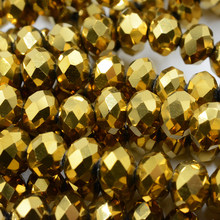 Gold Plating 4mm 6mm 8mm Loose Mixed Color Crystal Beads for Jewelry Making Bracelet Beads Beadwork Czech Glass Beads(China)