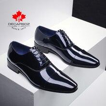 Мужская официальная обувь; коллекция 2019 года; модные модельные туфли из лакированной кожи; Мужская брендовая деловая Свадебная обувь; сезон осень зима; мужская обувь