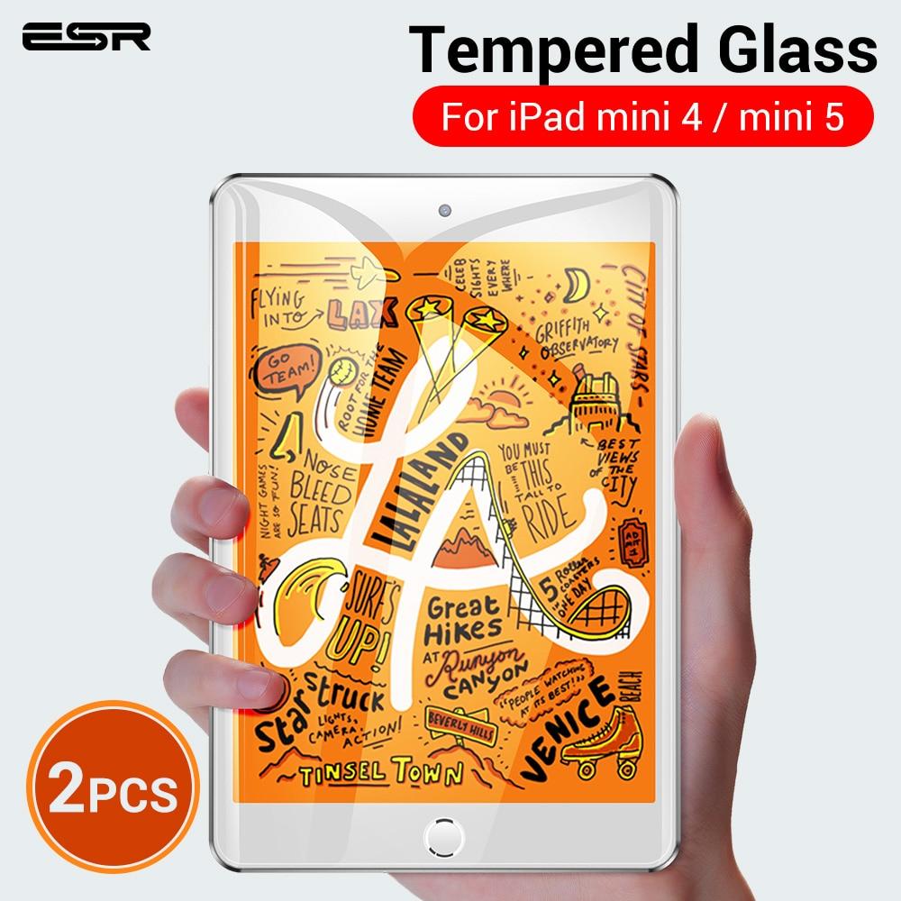 ESR Screen Protector For IPad Mini 5/iPad Mini 4 Tempered Glass 2pcs/lot 9H Hardness HD Clear Glass Film For IPad Mini 5 2019