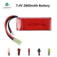 Batterie Lipo pour jouets RC FT009 UDI902 7.4 A959 2800 144001, pièces de rechange pour bateau 2S 12428 V 12423 mAh 25C, 7.4 V 2800 Mah
