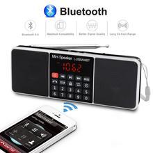 Hifi Portable Radio AM FM Bluetooth Speaker 3D Stereo MP3 Player TF/SD Card USB Drive Handsfree Call LED Display loudspeaker