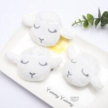 3PCS Brooch Accessories White Sheep Shape Crystal Super Soft Clothing Children Cute Cartoon