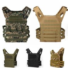 купить 600D Nylon Molle Tactical Vest Body Armor Hunting Shooting Plate Carrier Airsoft Pouch Combat Gear Tactical Equipment Camouflage дешево