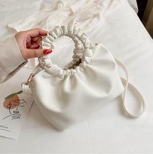 Искусственная кожа облако сумки-шопперы для женщин 2020 Твердые Цвет сумка через плечо женские сумки в комплекте с сумочками; Большие сумки д...