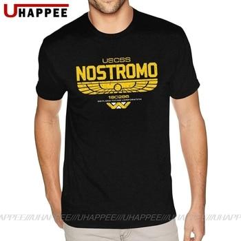 Camisetas de la película extraterrestre de Nostromo, Camiseta cuello redondo a la...