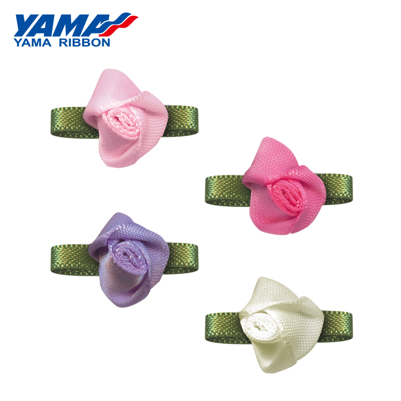 YAMA Bud Foliage Flower Diameter 15mm±2mm Leaf 22mm±3mm 200pcs bag Satin Ribbon forl Decoration Gift Box Packaging DIY Handmade in Ribbons from Home Garden
