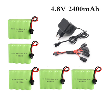 4.8V 2400mAh Ni-Mh Battery With 5 in 1 Charger For Remote Control Toys Lighting Electric Tool AA Group RC TOYS Battery Group image