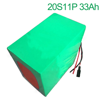 72V 33Ah 20S11P 18650 Li-ion Battery electric two Three wheeled motorcycle bicycle  ebike  240*185*160mm