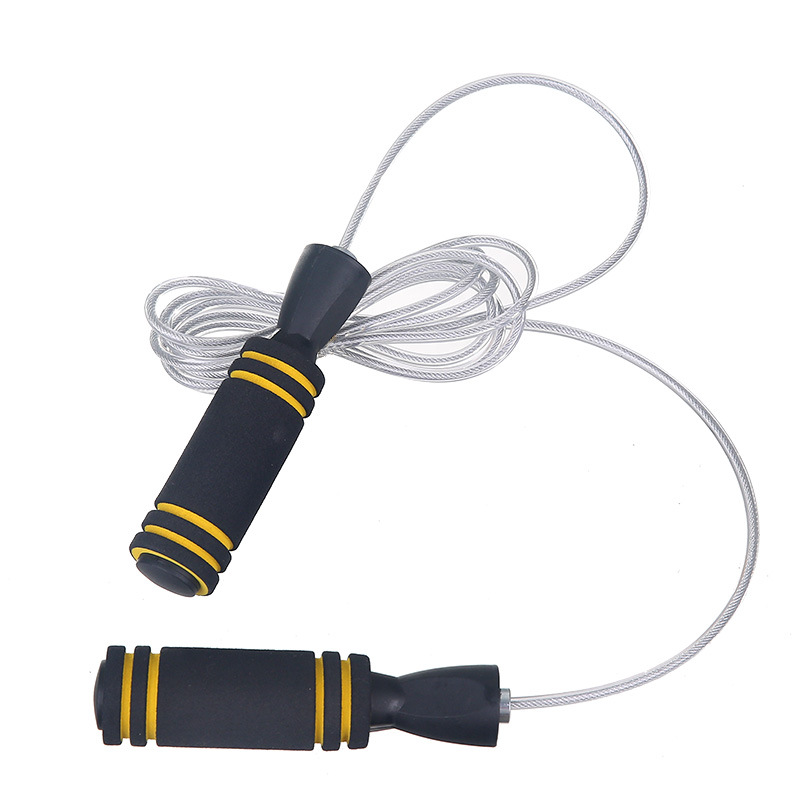 New Style Bearing Bai Gang Si Jump Rope Double Color Sponge Jump Rope Adult Fitness Racing Jump Rope Support A Generation Of Fat