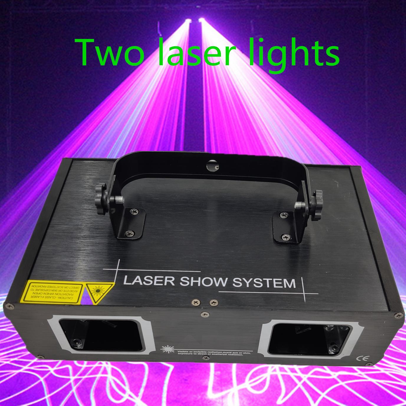 Lámpara láser de salida de fábrica 2 cabezales láser efecto de doble agujero etapa DMX512 iluminación para DJ discoteca fiesta KTV club nocturno y pista de baile