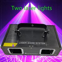 Sortie d'usine lampe Laser 2 tête Laser double trou effet de scène DMX512 éclairage pour DJ Disco Party KTV discothèque et piste de danse