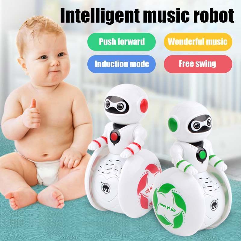 Hot Sale Smart Robot Tumbler Toy Sound Light Induction Educational Gift For Children Kids