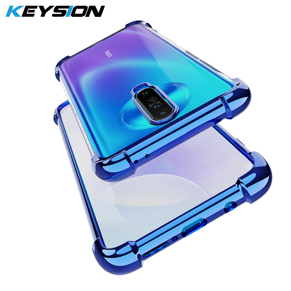 Shockproof Silicone Case For Redmi K30 K20 K20 Pro Note 8 8 Pro Plating Phone Back Cover For Xiaomi Mi 9T Pro POCO X2 A3