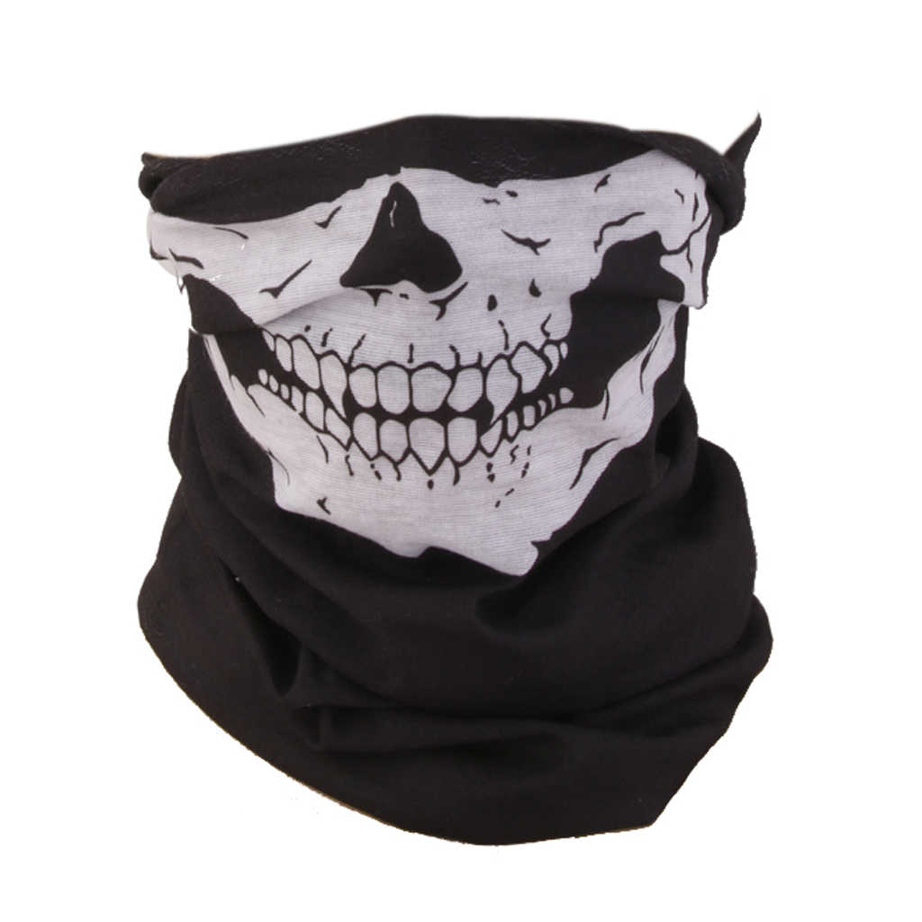Schädel Gesicht Maske Schal Skeleton Snood Neck Bandana Motorrad Bike Balaclava