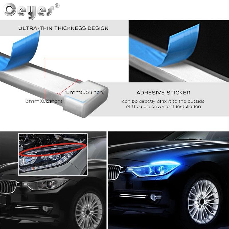 Hd2897a249b2e4a8c9d1da172987782cet Ceyes 2pcs Led DRL Daytime Running Lights Turn Signal DRL Led Strip Car Light Accessories Brake Side Lights Headlights For Auto