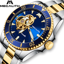 2020 MEGALITH Luxury Watch Men's automatic mechanical Watches 30M Waterproof Lumninous Clock Male Sports Mechanical Wrist Watch