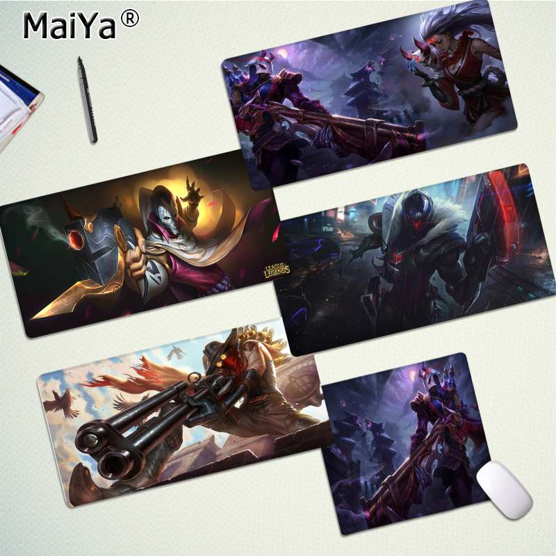 Maiya New Designs League Of Legend Jhin Locking Edge Mouse Pad Game Rubber PC Computer Gaming Mousepad