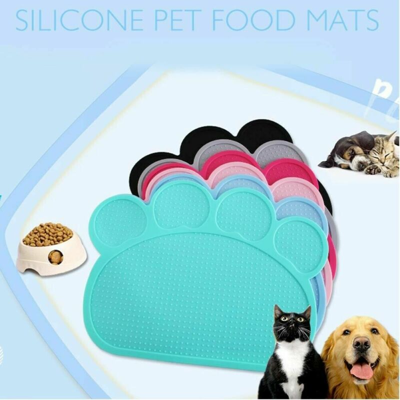 Waterproof Pet Mat For Dog Cat Silicone Pet Food Pad Pet Bowl Drinking Mat Dog Feeding Placemat Easy Washing