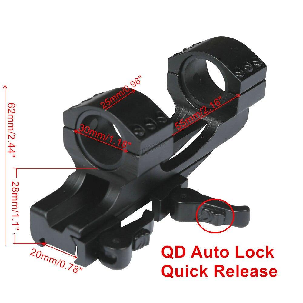 Крепление для прицела 25,4 мм 1 дюйм/30 мм кольцо с плоским верхом консольная рукоятка Вивера повышенной прочности 20 мм планка Пикатинни QD Авто...