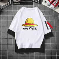 Lover Casual T Shirt Anime One Piece Luffy Straw Hat T shirt Half Sleeve Tops Tees Shirts Travel Sportswear Streetwear Hip hop