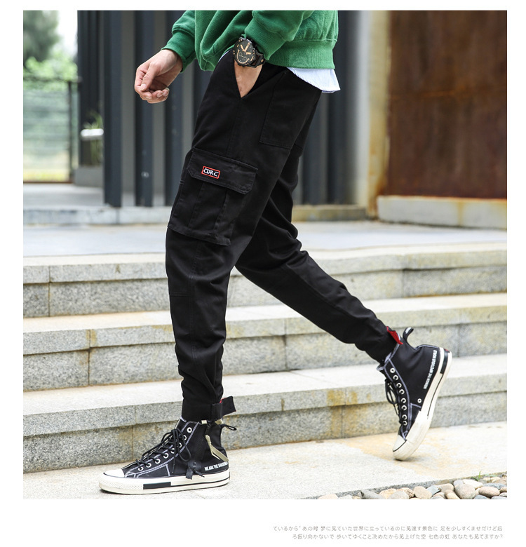 2019 Spring New Style Casual Ing Workwear Trend Fashion Street Youth MEN'S Trousers Pure Cotton Casual Pants Men's