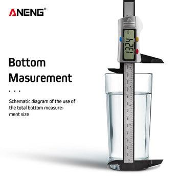 цена на ANENG 150mm 0.1mm Digital Vernier Caliper 6 inch Electronic Micrometer Paquimetro calibrador Digital Measurement Calipers Scale