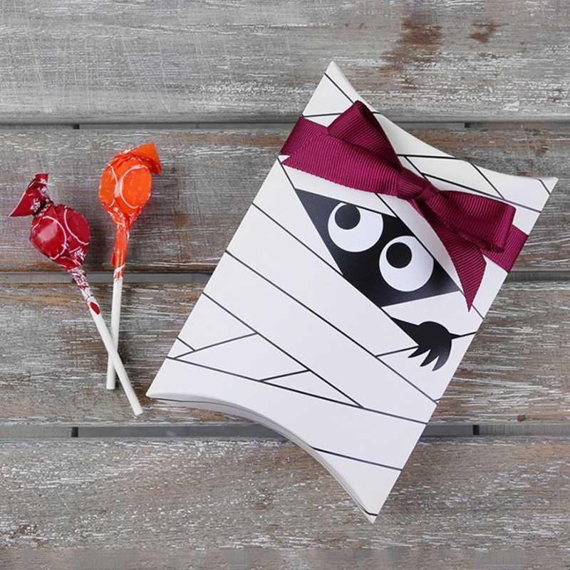 Kẹo Tặng Ma Thùng Nướng Bánh Quy Tặng Boxs Đảng Thanh Kẹo Bao Bì Hộp Giấy Halloween Trang Trí Tiệc ZA