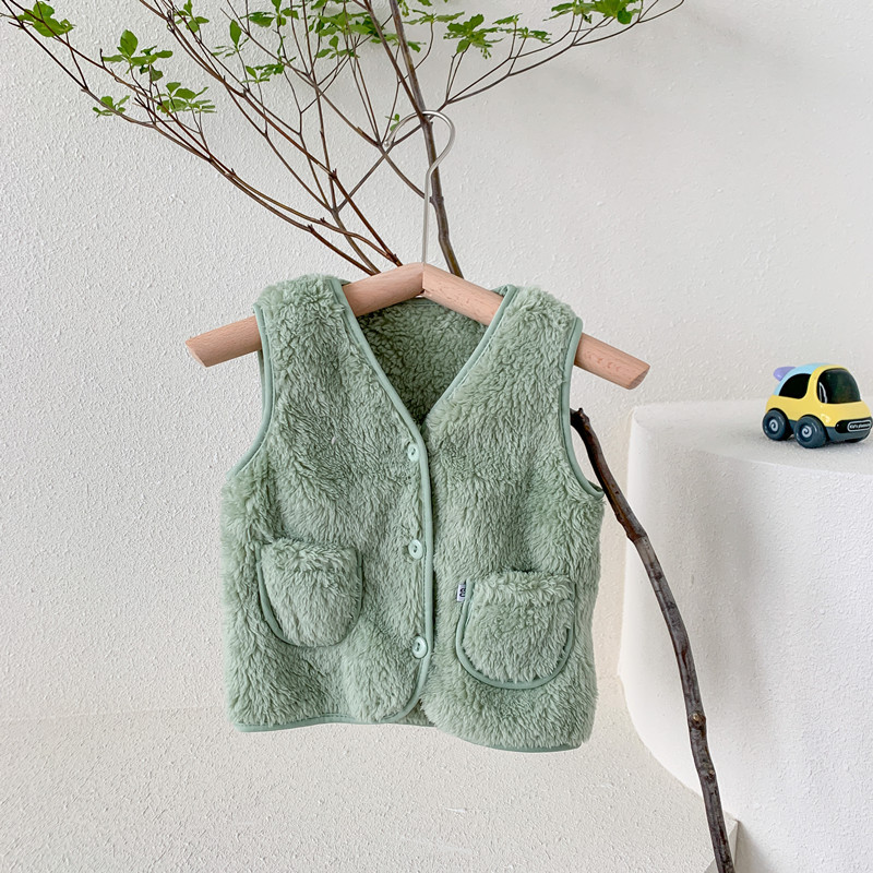 PPXX Winter Children Vest Fur Baby Waistcoat Kids Light Vest for Girl Boy Toddler Children Clothes Fur Jacket sleeveless 4