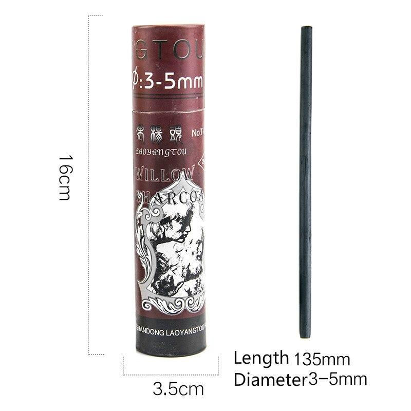 Уголь, брусок хлопок ива баров тонкий эскиз карандаши для рисования специальный уголь стержень китайская живопись канцелярские творческие принадлежности - Характеристики: 3-5mm 1 box