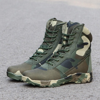 Men Camouflage Combat Ankle Boot Waterproof Leather Work Safety Hunting Casual Shoes Mens Tactical Military Army Boots Sneakers 4