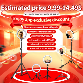 """10"""" LED Ring Light Photographic Selfie Ring Lighting with Stand for Smartphone Youtube Makeup Video Studio Tripod Ring Light 1"""