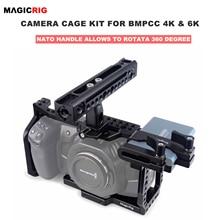 كاميرا سينما بجيب بتصميم بلاك ماجيك 4K & 6K مع مقبض ناتو دوار ، حامل T5 SSD