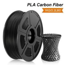 Enotepad Pla Carbon Fiber 1Kg 2.2lbs 3D Printer Filament 100% Geen Bubble 1.75Mm Hard Filament Voor Kruk Model afdrukken