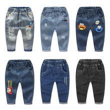 New 2020 Kids Fashion Solid Jeans Trousers Pants Boys Denim Pants Baby Boys Jeans Autumn Winter Jeans Long Pants Clothing
