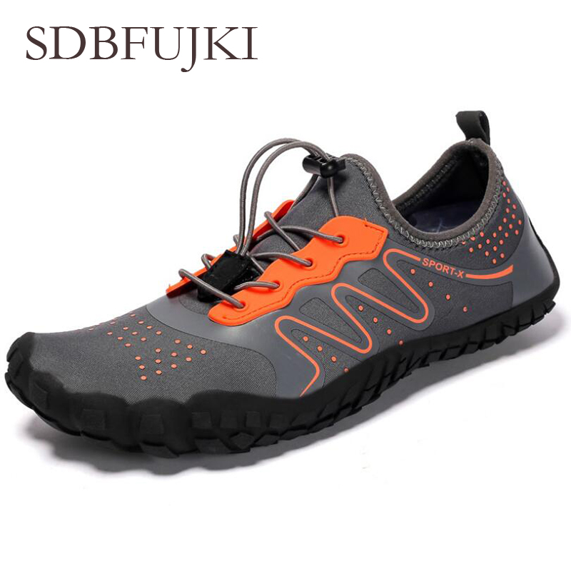 2019 Water Shoes Men Summer Breathable Aqua Shoes Rubber Upstream Shoes Woman Beach Sandals Diving Swimming Socks Hiking Shoes