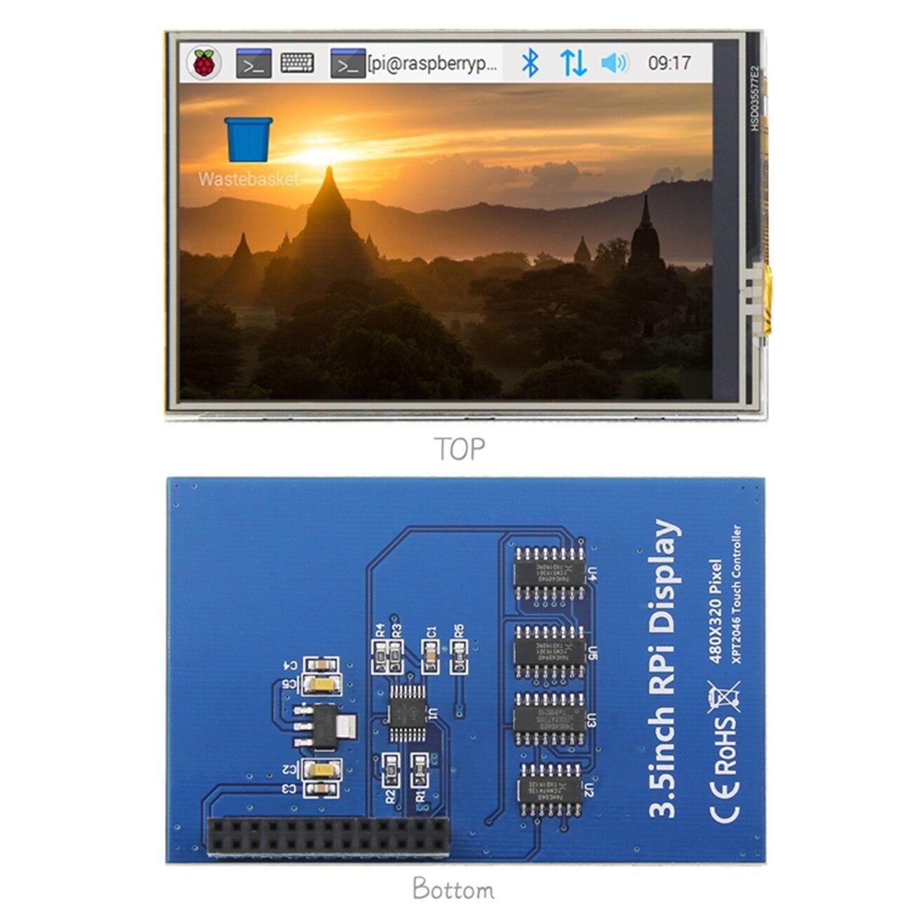 3.5-inch para raspberry pi lcd tft tela de toque para raspberry pi 2 modelo b tela de toque + caneta de toque