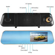 4.3 Inch 1080P HD driving recorder dvr Car Rear View Mirror Dash cámara para auto Video Recorder Camera Monitor Night Vision 5 0 inch 1080p car rear view camera with monitor car dvr video recorder rearview mirror monitor auto dimming parking monitoring