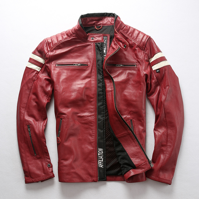 Streetwear 100% Genuine Leather Real Cow Leather Coat Men Spring Autumn Jacket Man Clothes 2020 Moto Biker Leather Jacket