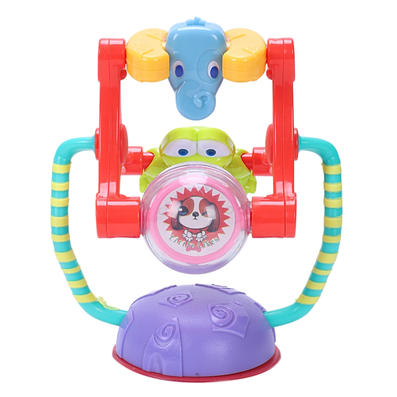 Hot-Baby Activity Toy Animal Ferris Wheel Rattle Toy Intelligence Development Puzzle Baby Dining Chair Cart Suction Cup Toy
