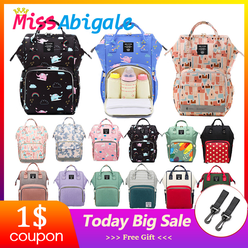 MissAbigale Diaper Bag For Mom Stroller Bags Nappy Bag Maternity Backpack Large Capacity title=