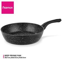 FISSMAN Fiore Series Deep Frying Pan Non stick Marble Coating Forged Aluminium Skillet Induction Cooker