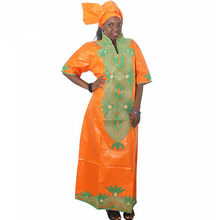 MD traditional african dresses south africa ladies clothes long dress and headwrap african sets womens african bazin dresses