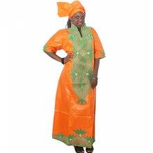MD традиционные африканские платья Южная Африка женская одежда длинное платье и головной убор африканские комплекты женские африканские платья