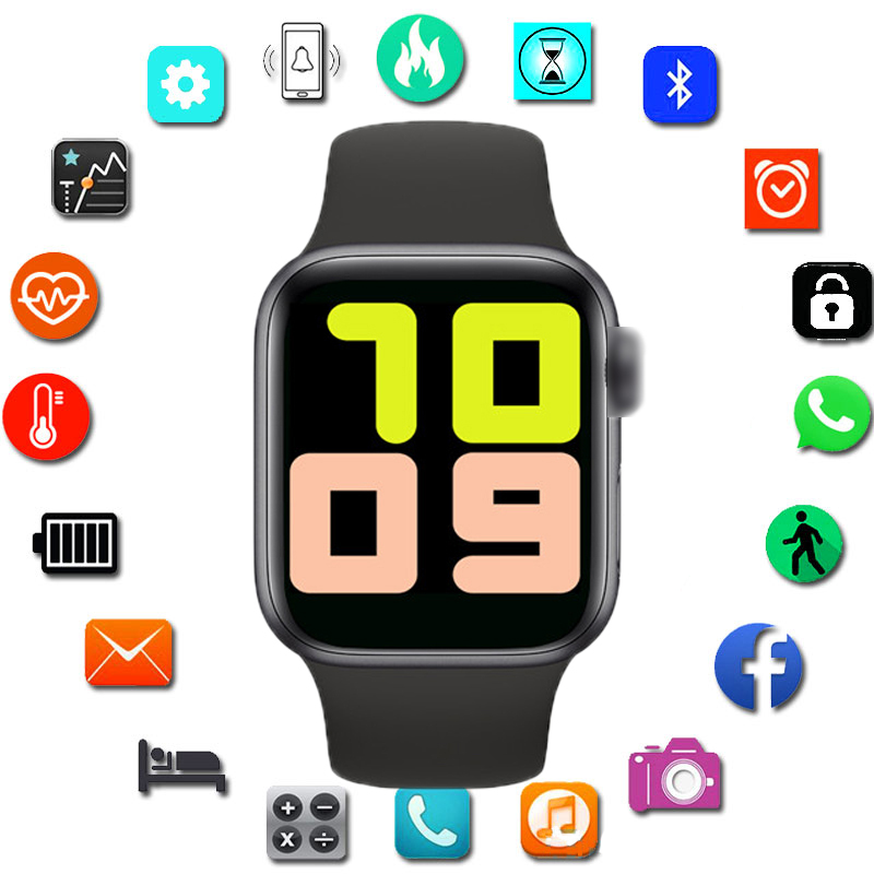 <font><b>Smartwatch</b></font> IWO13 T500 Series 5 Bluetooth Call <font><b>44mm</b></font> Smart Watch Heart Rate Monitor Blood Pressure for IOS Android PK <font><b>IWO</b></font> 12 <font><b>IWO</b></font> <font><b>8</b></font> image