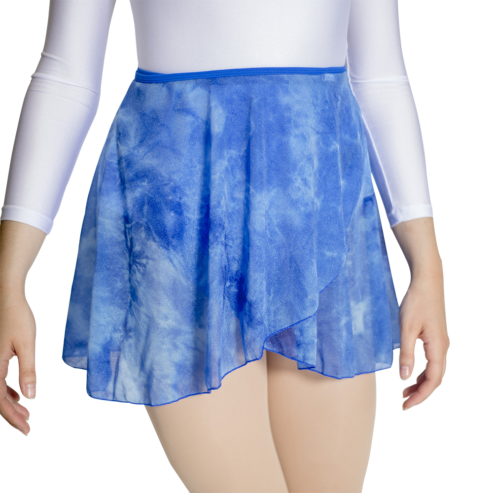 <font><b>Tie</b></font> <font><b>Die</b></font> Fabric Dance Wrap <font><b>Skirts</b></font> with Cotton/Lycra Waistband Contemporary <font><b>Skirt</b></font> for Girls and Women Dancewear image