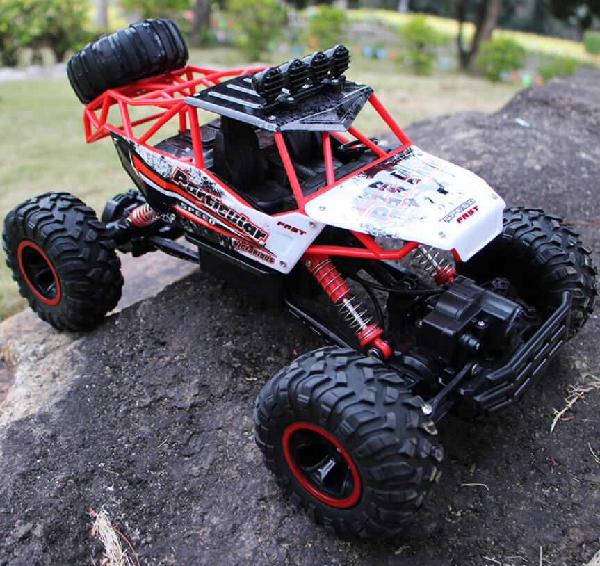 37 centimetri 1:12 RC Auto 4WD arrampicata Auto 4x4 Motori A Doppia Drive Bigfoot Auto Modello di Controllo Remoto di Sconto Road Del Veicolo giocattoli Per I Ragazzi I Bambini - 5