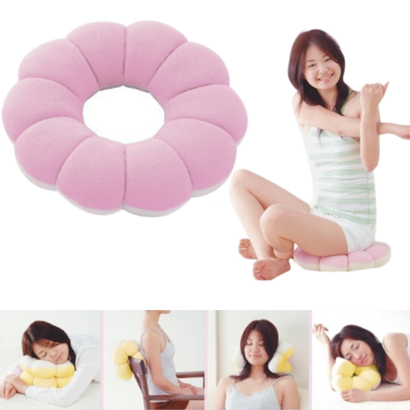 Donut Multifunctional Cushions Cervical Lumbar Sofa Home Office Travel Pillows E2S