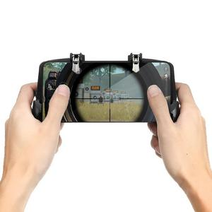 Image 3 - K21 Кнопка Триггеры Оборудование для сотового телефона Dzhostik PUBG Мобильный Джойстик Gamepad Game Controller для iPhone Android Gaming Четыре триггера геймпад для PUBG Мобильный контроллер Gamepad Джойстик телефона