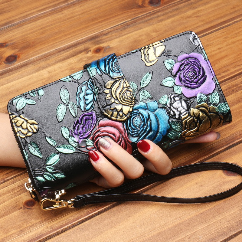 Leather buckle ladies wallet…